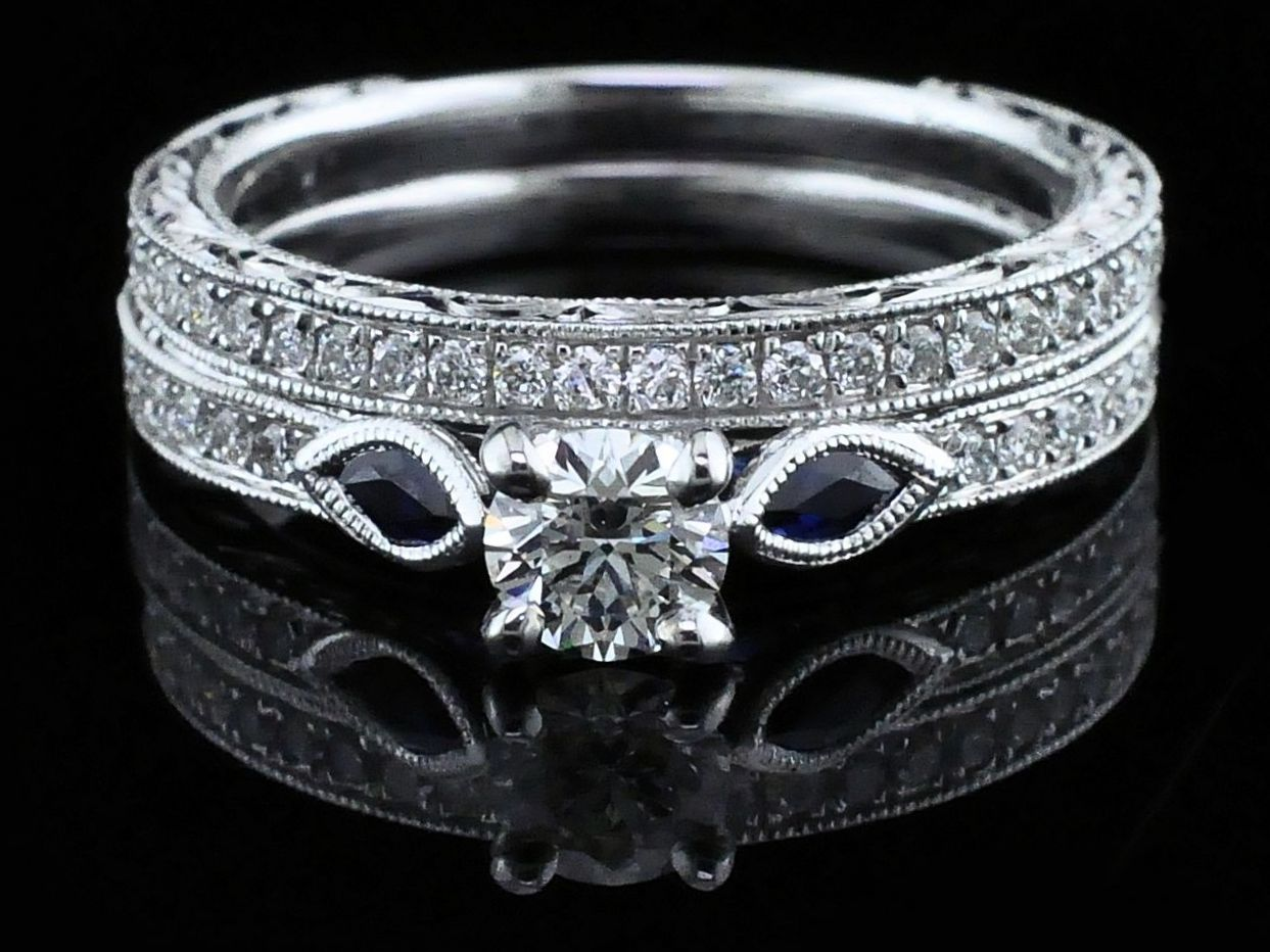 Gabriel Diamond Wedding Set by Gabriel & Co