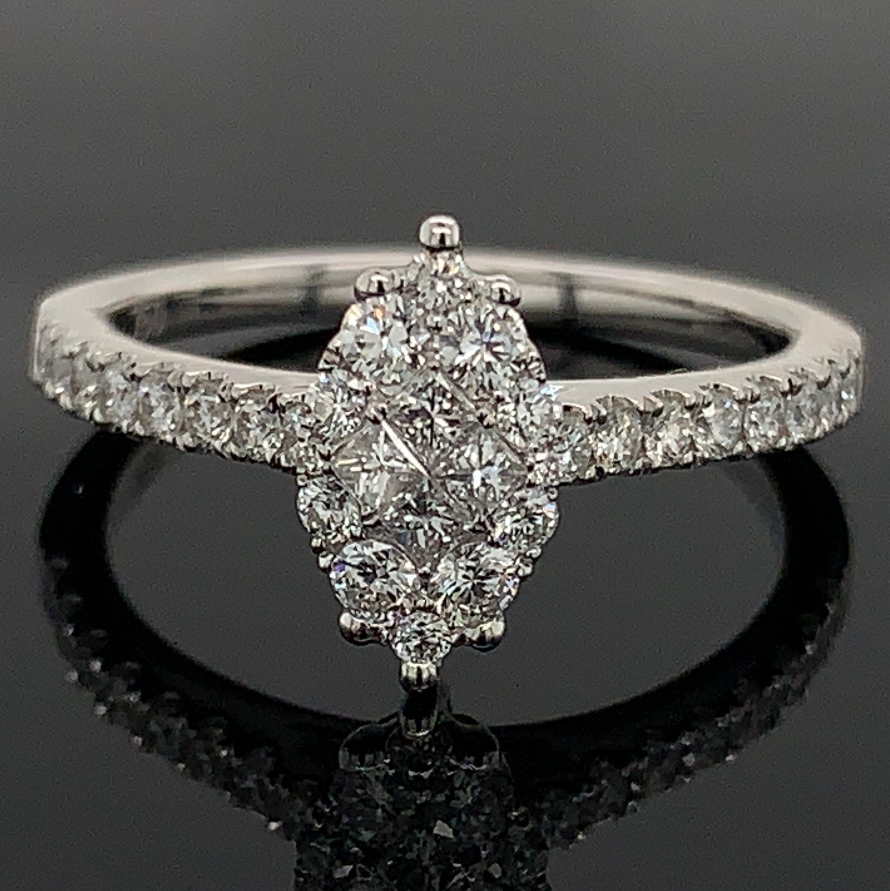 18K White Gold and Diamond Engagement Ring by Signature Bridal Collection