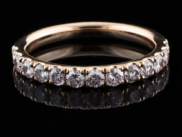 Henri Daussi Diamond Wedding Band by Henri Daussi