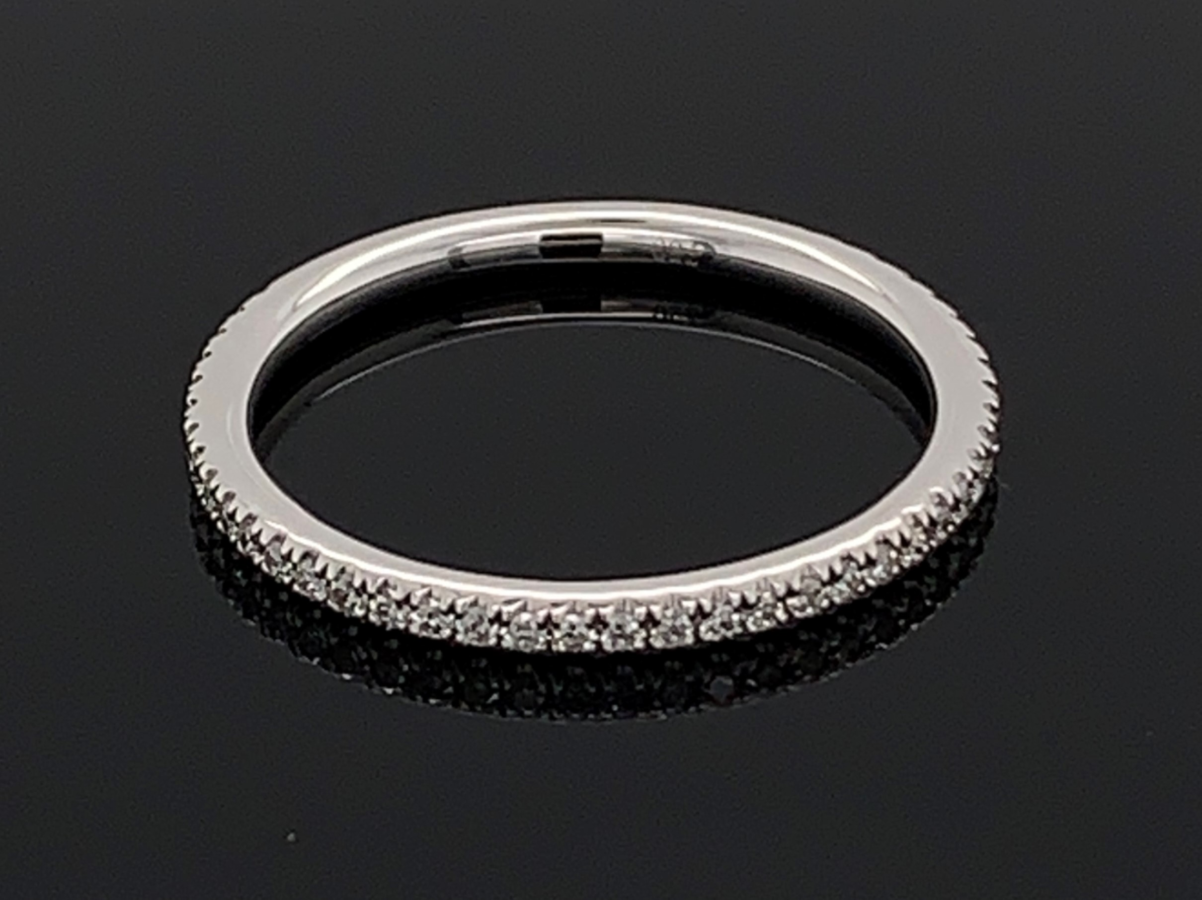 18K White Gold Diamond Anniversary Band by Signature Bridal Collection