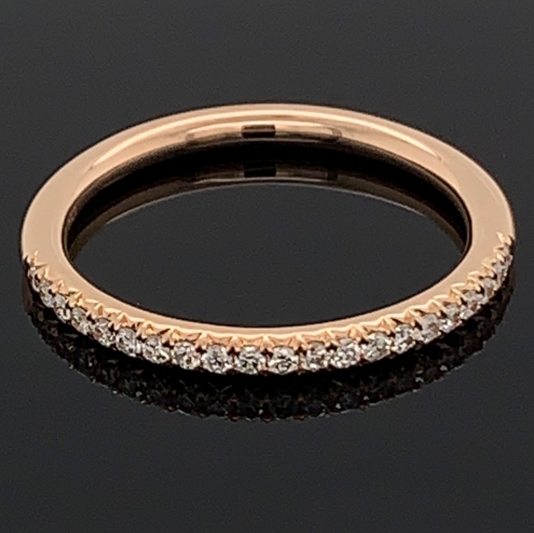 18K Rose Gold Diamond Anniversary Band by Signature Bridal Collection