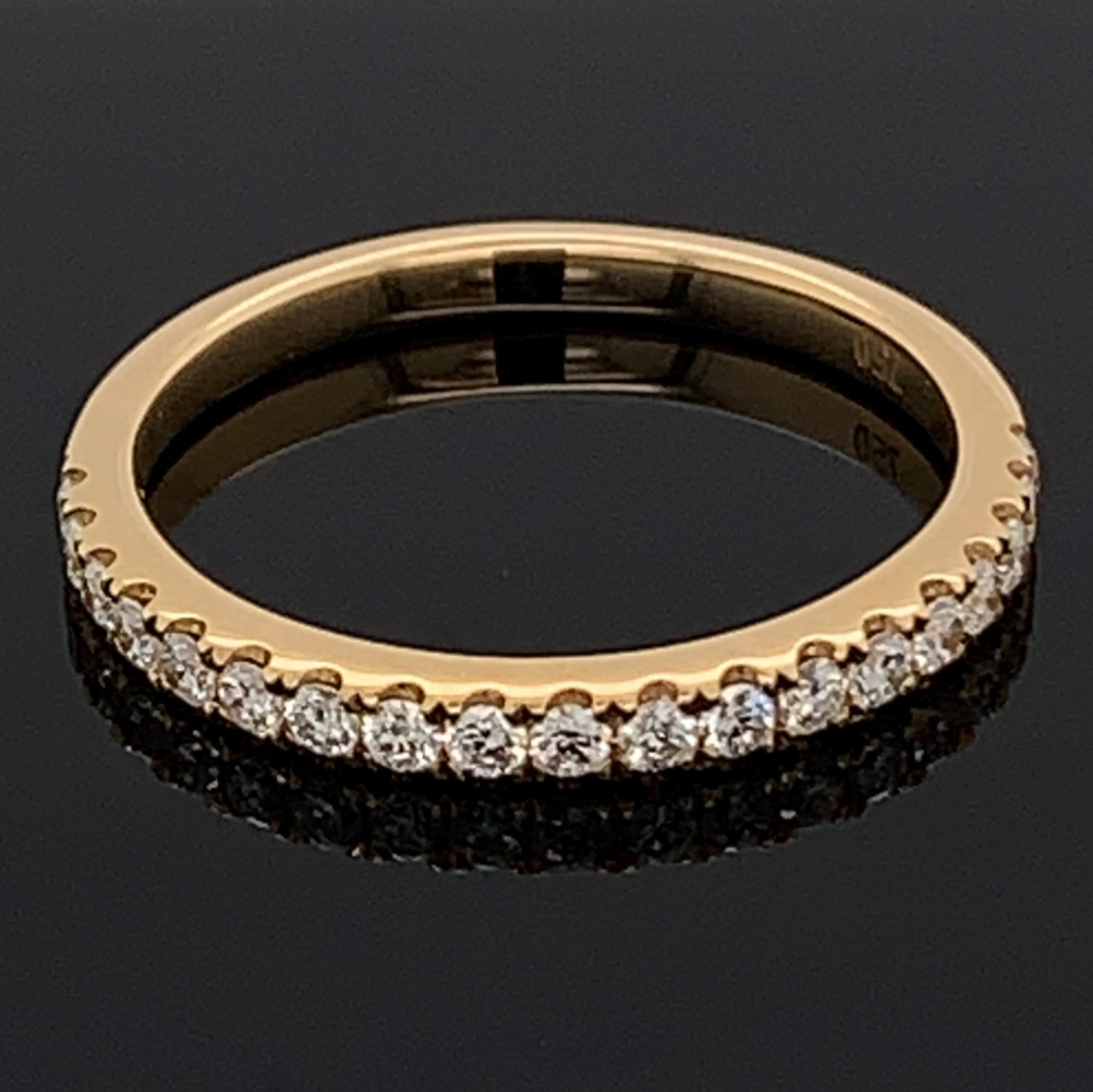 18K Yellow Gold Diamond Anniversary Band by Signature Bridal Collection