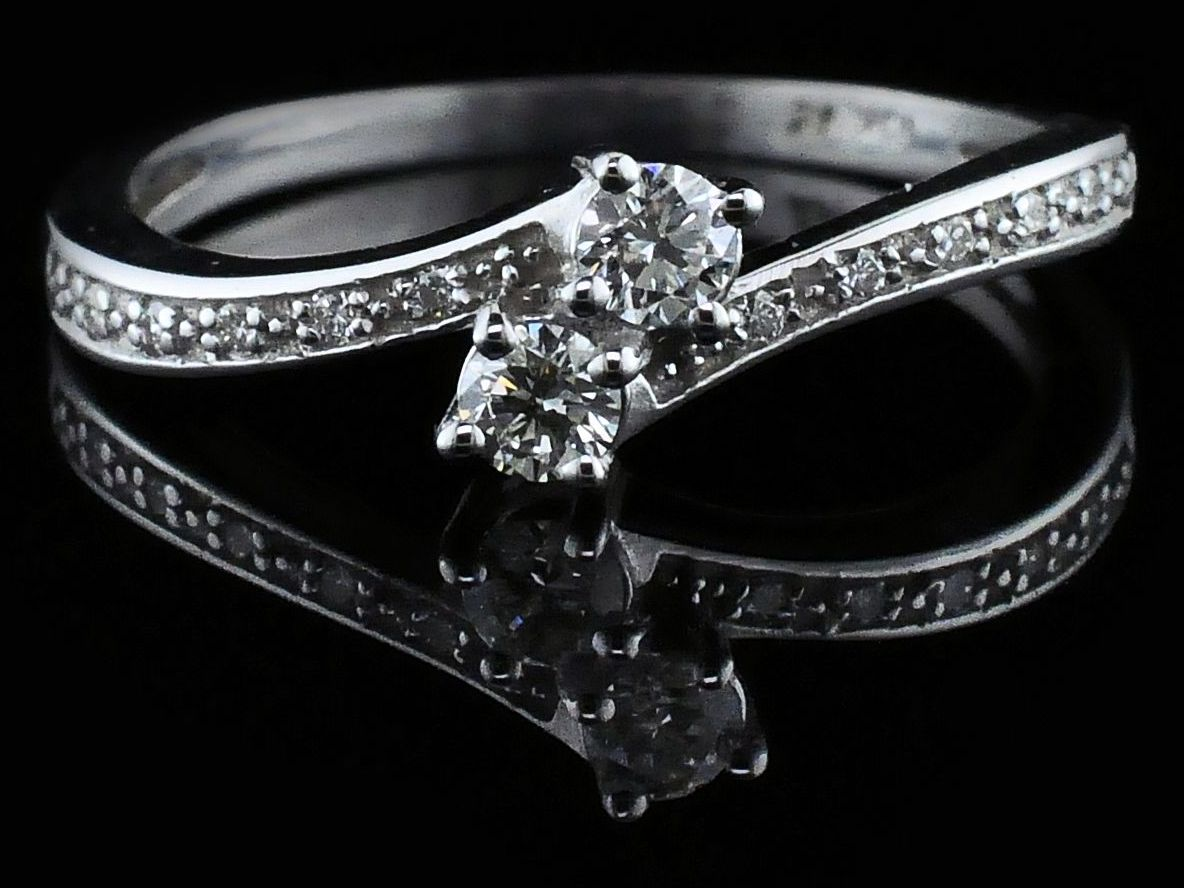 Ladies 2 Stone Diamond Ring