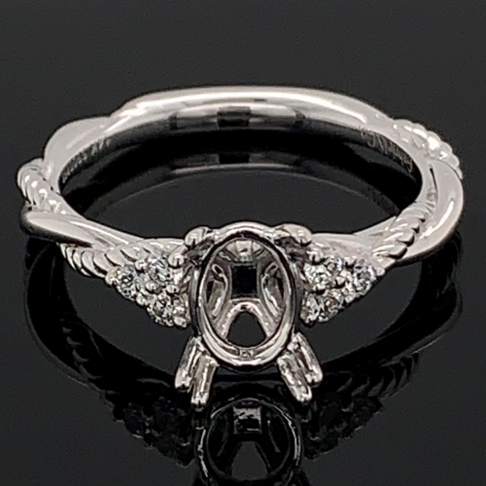 Gabriel and Co. Diamond Semi Mount Engagement Ring by Gabriel & Co