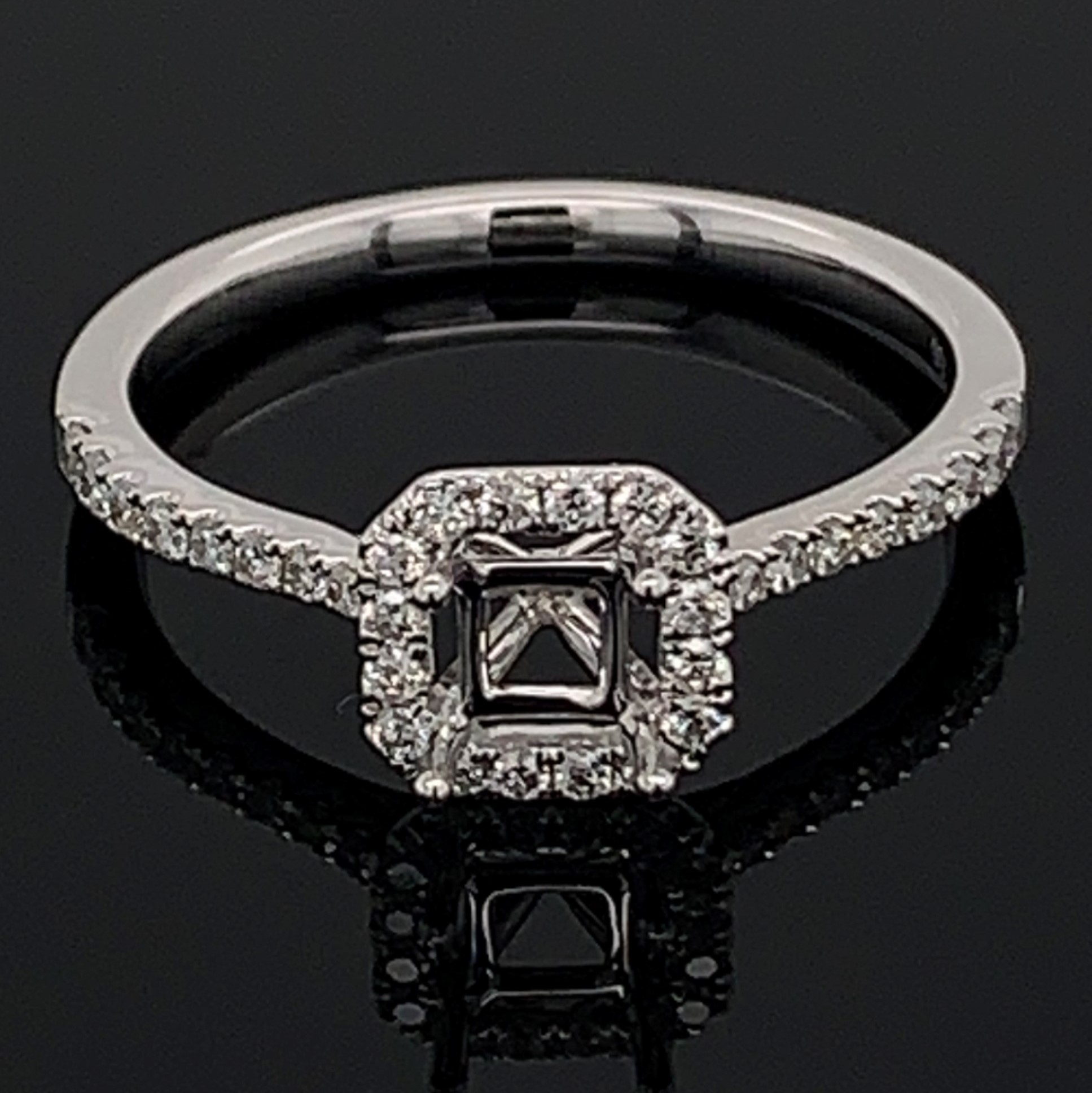 18K White Gold and Diamond Semi Mount Ring by Signature Bridal Collection