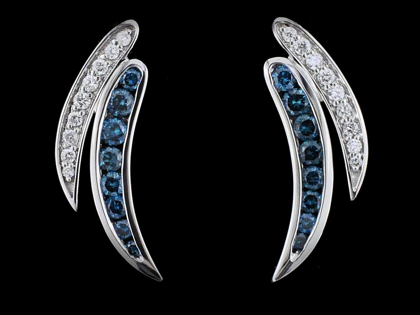DeLeo Colored Diamond Earrings by DeLeo
