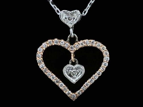Alisa Unger Designs Diamond Heart Pendant by Alisa Unger
