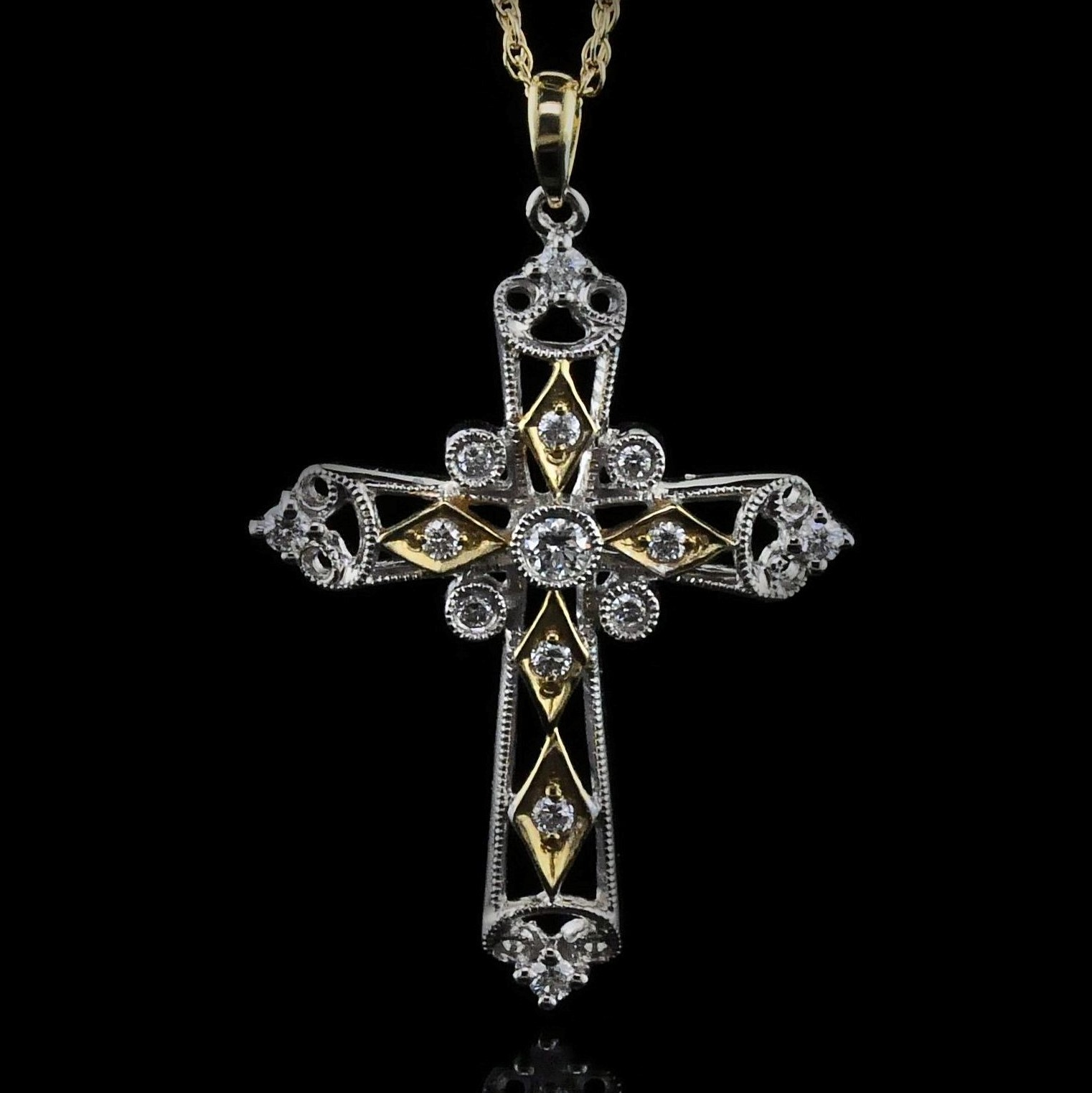 Alisa Unger Designs Diamond Cross Pendant by Alisa Unger