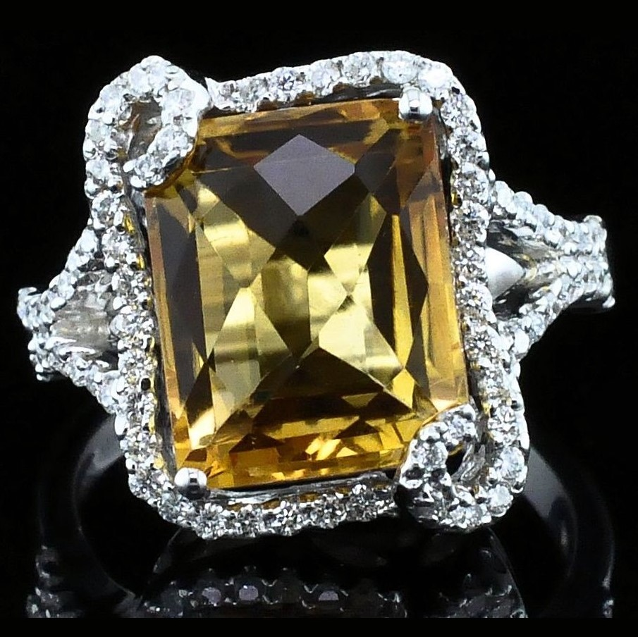 Alisa Unger Designs Citrine and Diamond Fashion Ring by Alisa Unger