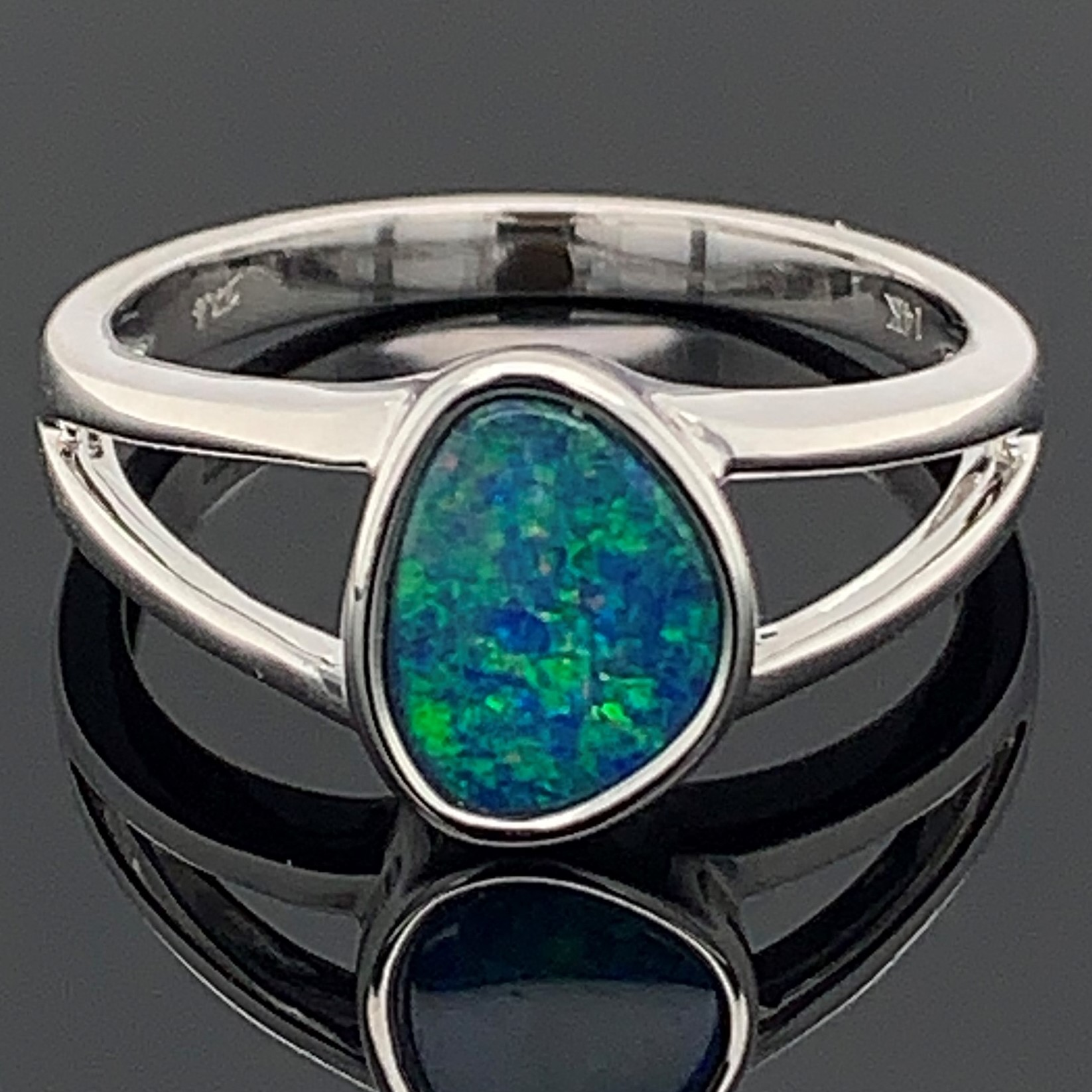 Australian Opal Doublet Ring by Parle