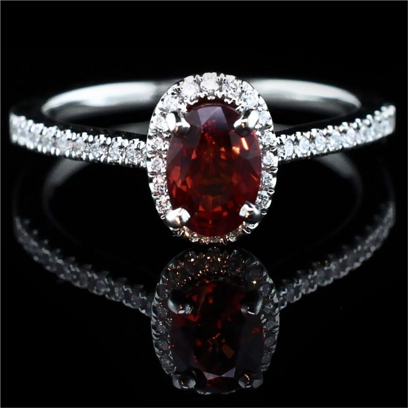 "18K White Gold ""Fire Ruby"" And Diamond Ring by Fire 🔥 Ruby"