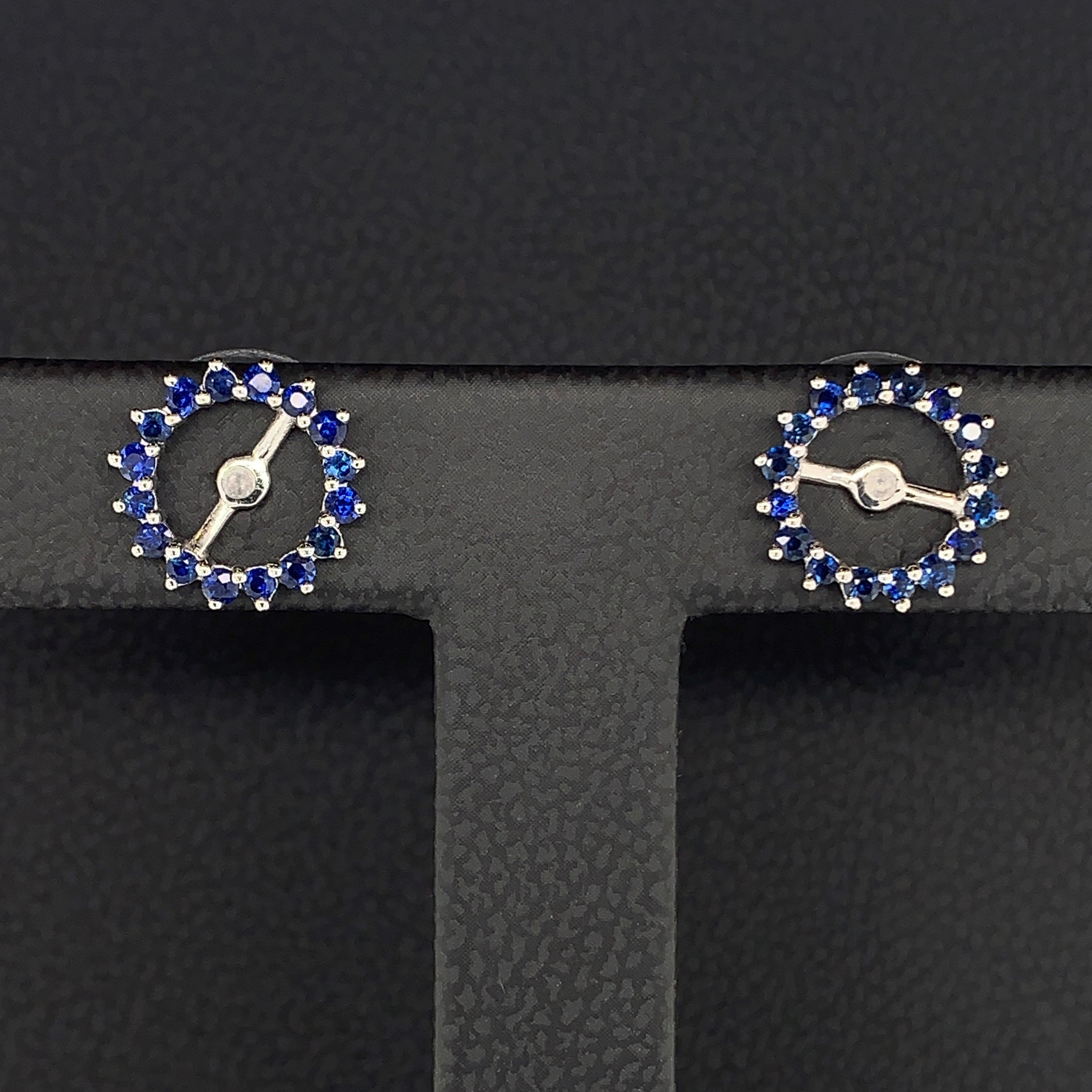 Sapphire Earring Jackets by Parle