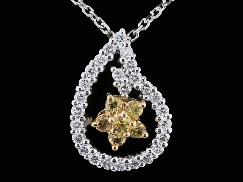 Alisa Unger Designs Yellow Sapphire and Diamond Pendant by Alisa Unger