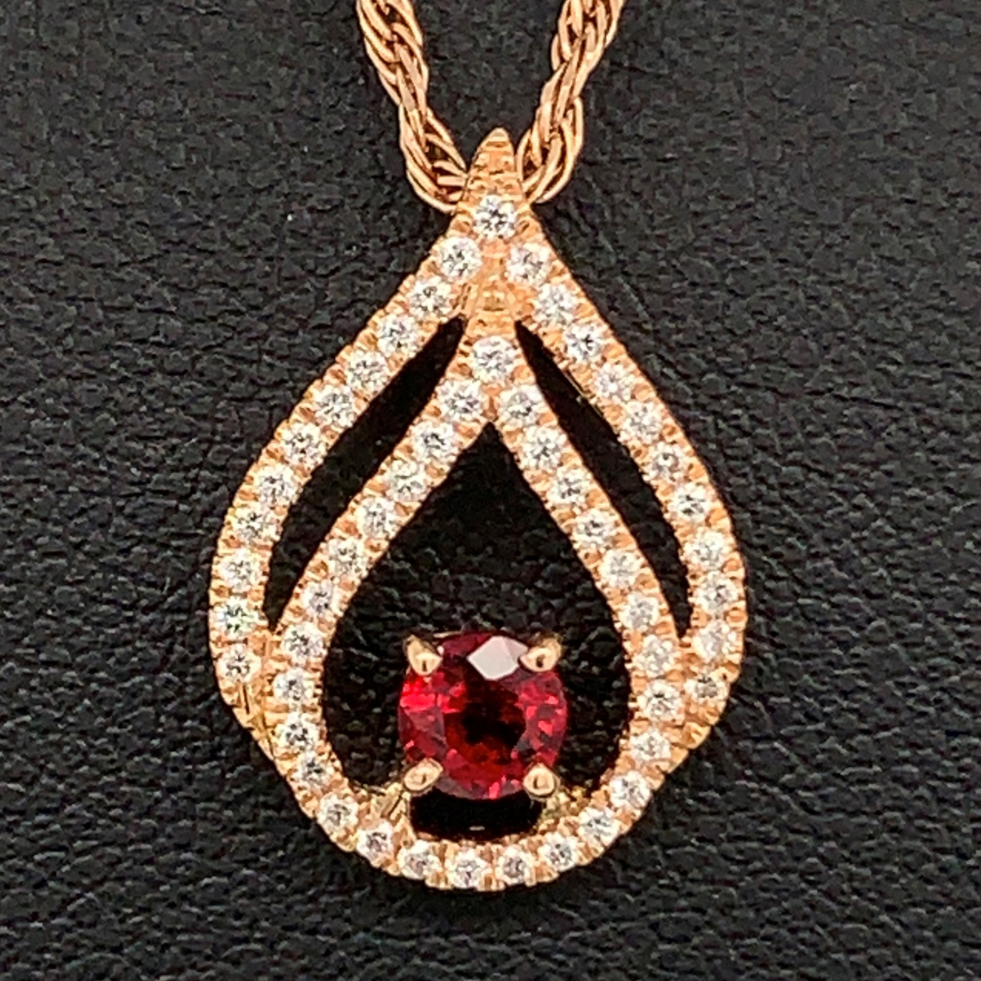 Fire Ruby and Diamond Pendant by Fire 🔥 Ruby