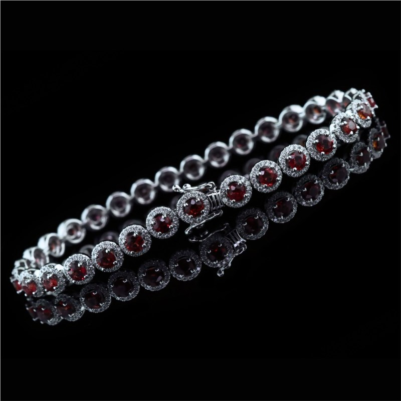 "18K White Gold ""Fire Ruby"" And Diamond Custom Bracelet by Fire 🔥 Ruby"