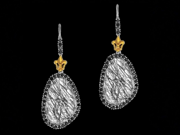 Silver Earrings by Phillip Gavriel