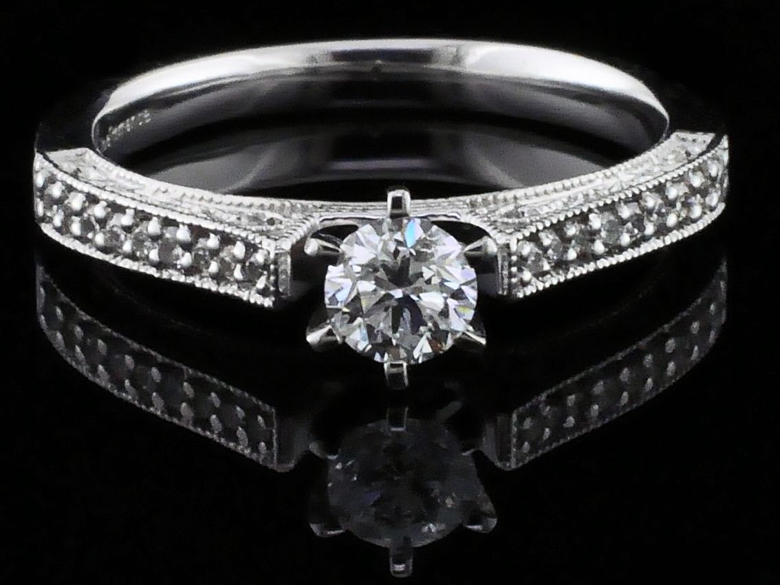 .47Ct Total Weight Diamond Engagement Ring by True Romance