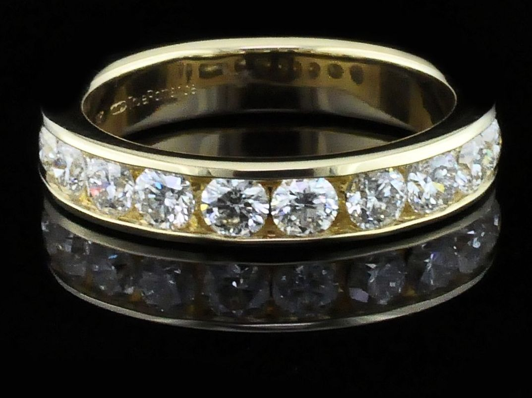 1.00Ct Total Weight Diamond Anniversary Ring by True Romance