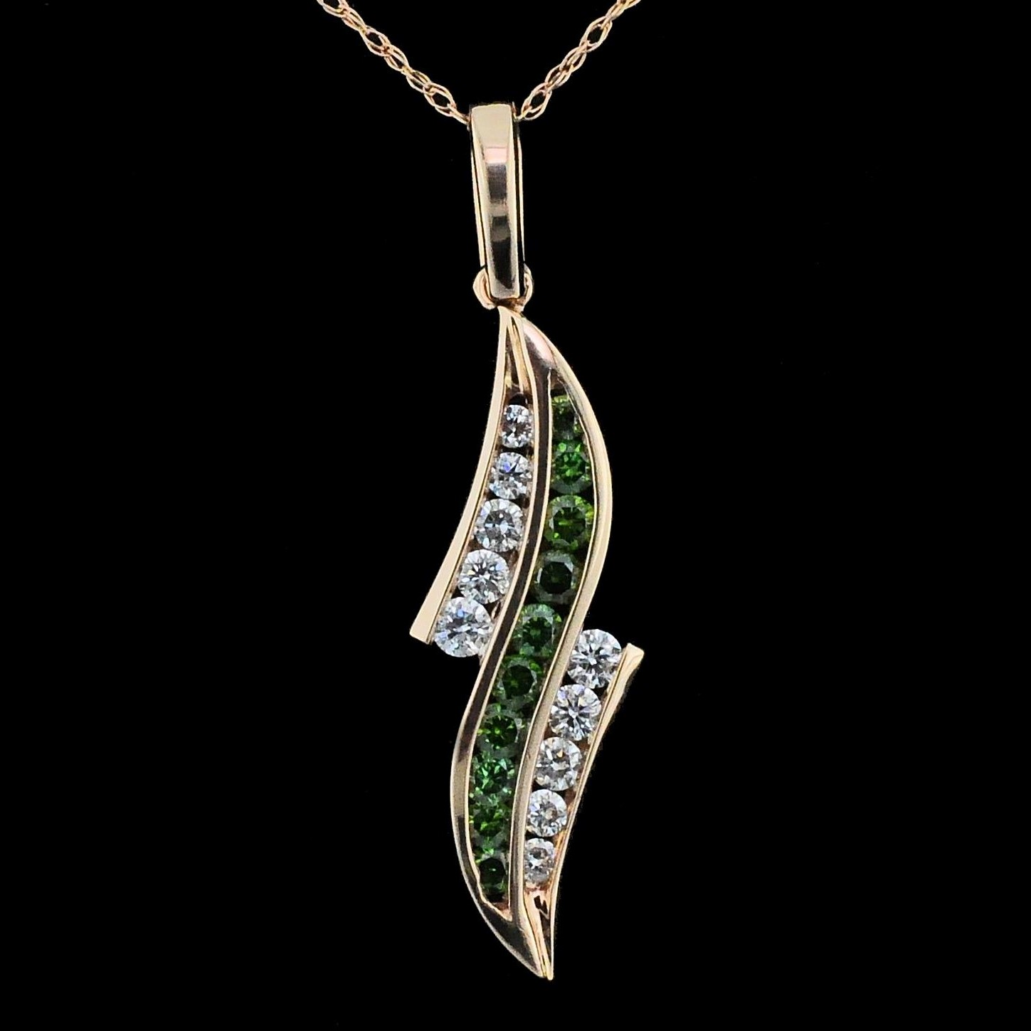 DeLeo Colored Diamond Pendant by DeLeo