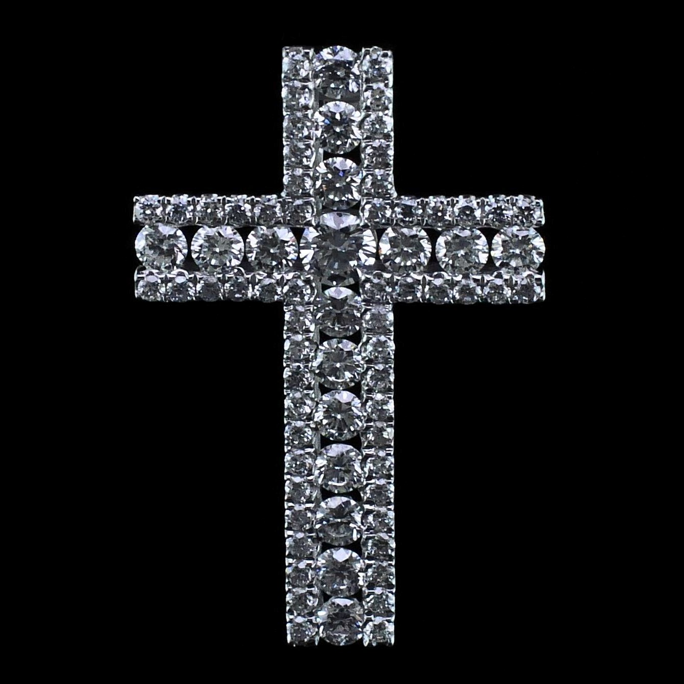 18K Diamond Cross Pendant by Signature Bridal Collection