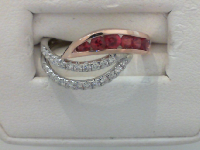 Ladies Fire Ruby and Diamond Ring by Fire 🔥 Ruby