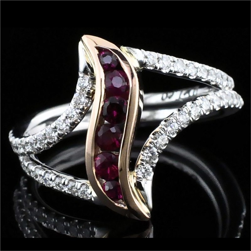Ladies DeLeo Fire Ruby and Diamond  Fashion Ring by Fire 🔥 Ruby