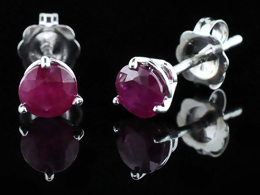 Madagascar Ruby Stud Earrings by Parle