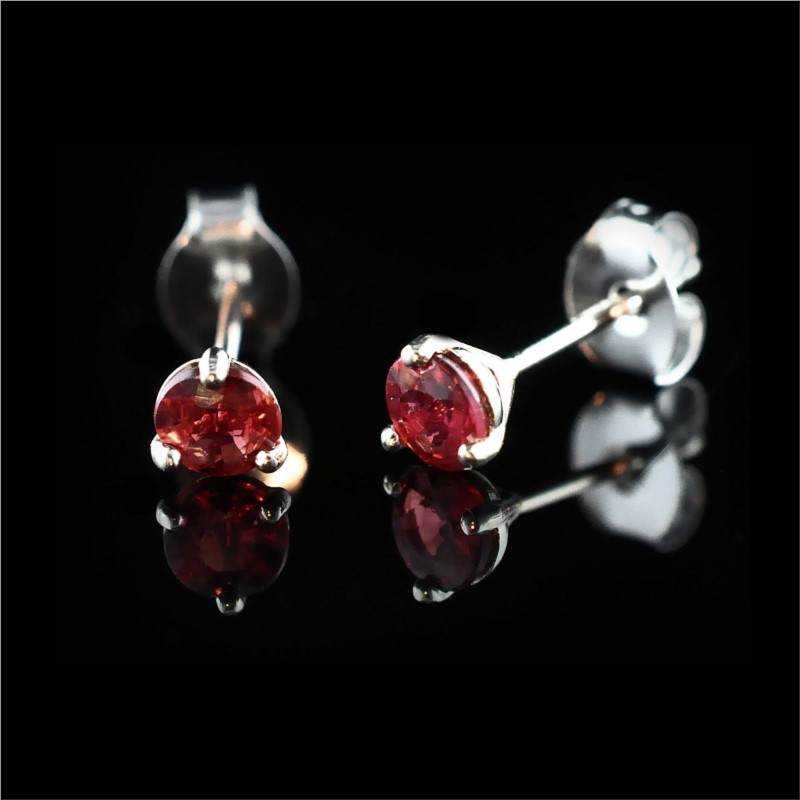 "14k White Gold ""Fire Ruby"" Martini Stud Earrings by Fire 🔥 Ruby"