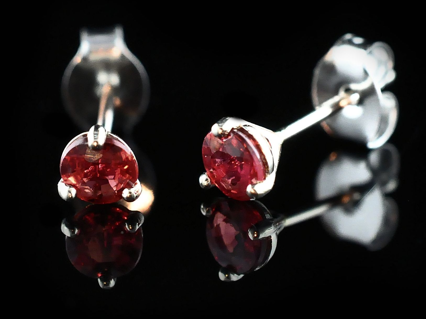 Fire Ruby Stud Earrings by Fire 🔥 Ruby