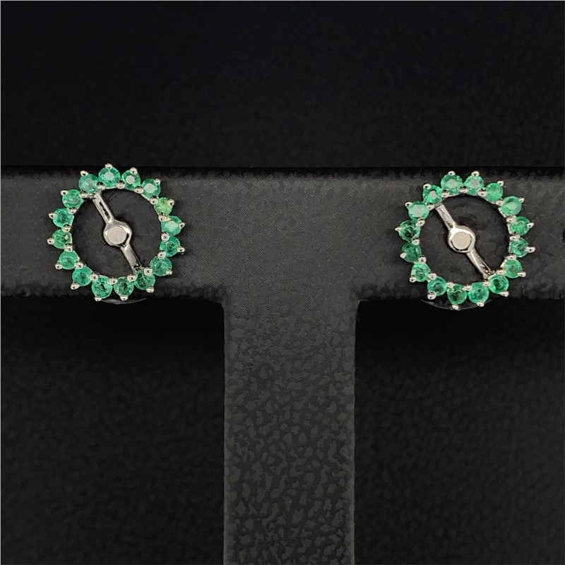 Emerald Earring Jackets by Parle