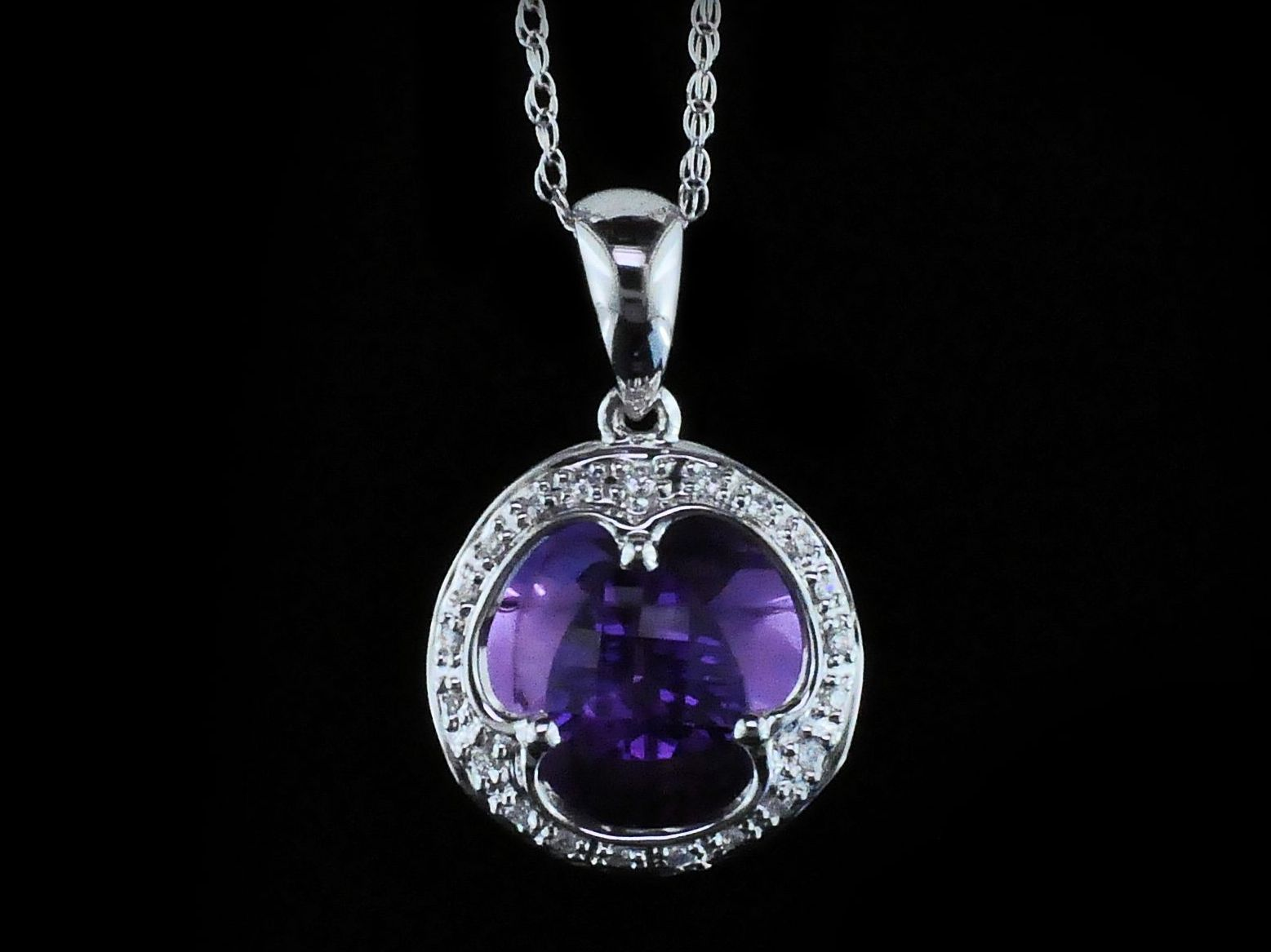 Amethyst and Diamond Pendant by Parle