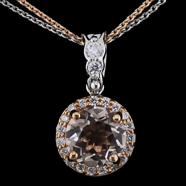 Makur Morganite and Diamond Pendant by Makur