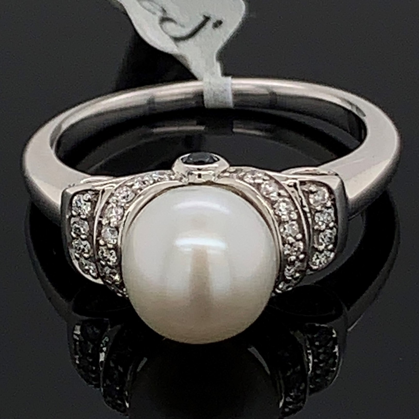 "Enchanted Disney Pearl and Diamond ""Cinderella"" Ring by Enchanted Disney"